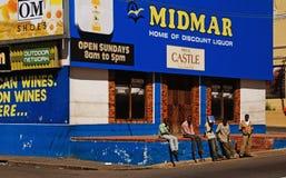 组失业者在开普敦,南非 库存照片
