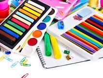 组学校用品。 免版税库存图片