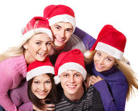 组帽子人圣诞老人年轻人 库存图片