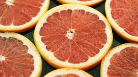 组成的切片红色葡萄柚 影视素材