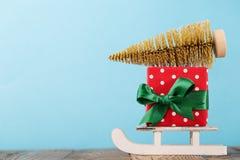 组成的礼物和圣诞节装饰 库存图片