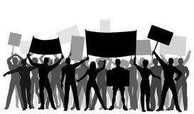 组抗议者 免版税图库摄影