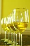 组白葡萄酒 库存图片