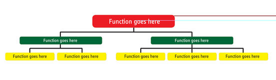 组织图表总公司的层次结构 免版税图库摄影