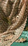组织的橡木片段,叶子和橡子 库存图片