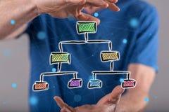 组织系统图的概念 免版税库存图片