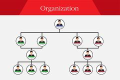 组织系统图Infographics 皇族释放例证