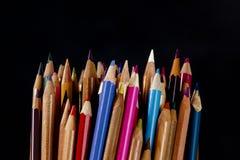 组色的铅笔 免版税库存照片