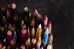 组色的铅笔 免版税图库摄影