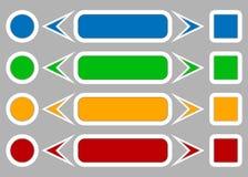 组装色的按钮 库存照片