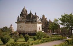 组西部khajuraho的寺庙 免版税库存图片