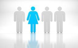 组长。 男人和妇女 向量例证
