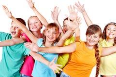 组青少年的人员。 免版税库存图片