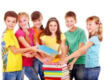 组青少年的人员。 图库摄影