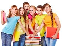 组青少年的人员。 库存照片
