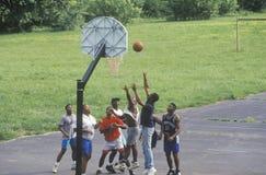 组非洲裔美国人的青年 图库摄影