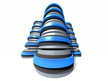 组3D服务器塔 库存照片