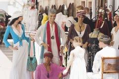 组ibiza时装模特城镇 免版税库存图片