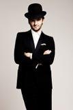 绅士帽子 免版税库存照片