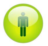 绅士玻璃状绿色图标 免版税库存照片