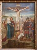 绅士-从圣皮特s教会的在十字架上钉死油漆 免版税库存照片
