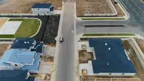 细分建设中与一个小公园操场 股票视频