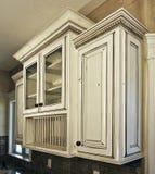 细木家具碗柜厨房白色 图库摄影