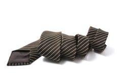 细条纹布料的领带 免版税库存照片