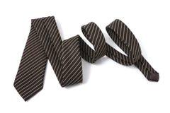 细条纹布料的领带 免版税库存图片