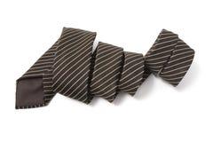 细条纹布料的领带 免版税图库摄影