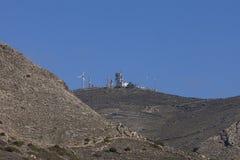 细胞塔和风车 库存照片