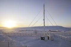 细胞站点在Chukotka,俄罗斯 库存照片