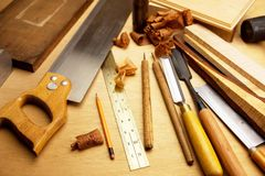 细致的木头工作 免版税库存图片