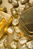 细致的金子 免版税库存图片