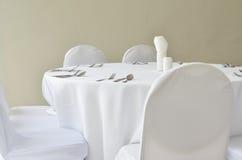 细致的餐馆饭桌 库存图片