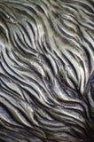 细节和装饰浅浮雕装饰品从伪造的盖印的铁门金属当背景纹理 免版税图库摄影