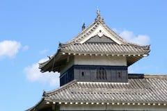 细节塔马塔莫罗斯木城堡,日本 库存照片