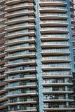 细节现代buidling在迪拜,阿拉伯联合酋长国 免版税库存图片