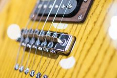 细节被射击一把电吉他 免版税库存图片