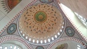 细节suleyman清真寺 免版税库存图片