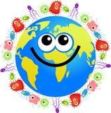 细菌地球 免版税库存图片
