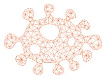 细菌导航滤网接线框模型 向量例证