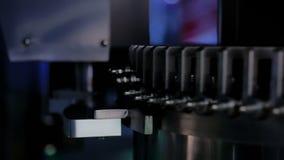 细颈瓶和小瓶的自动检查机器品质控制设备 股票录像