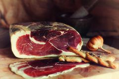 细颗粒meatsKitchen装饰,自然产品 库存照片