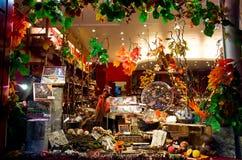 细致的食物店在巴黎 免版税库存照片