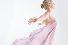 织品可浮起的粉红色 图库摄影
