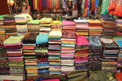 织品市场销售额 免版税库存照片
