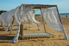 织品帐篷白色 免版税库存图片