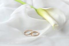 织品敲响婚礼白色 免版税图库摄影