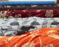 织品方式市场零售卷界面 库存图片